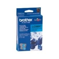 Чернильный оригинальный картридж Brother LC-980C , голубого цвета, совместимость: Brother DCP-145C / 165C, ресурс : 260 страниц формата A4 при 5% заполнении