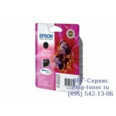 Струйный картридж Epson Т0731 черный, оригинальный Epson Stylus С79 / С110 / Т30 / Т40 / СХ3900 / СХ4900 / СХ5900 / СХ6900 / СХ7300 / СХ8300 / СХ9300 / ТХ200 / ТХ209 / ТХ210 / ТХ219 / ТХ300 / ТХ400 / ТХ409 ТХ550 (Ресурс: 245стр)