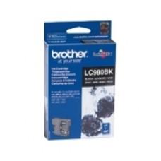 Чернильный оригинальный картридж Brother LC-980BK , черный, совместимость: Brother DCP-145C / 165C, ресурс :  300 страниц формата A4 при 5% заполнении