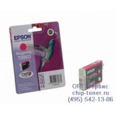 Картридж Epson T0803 пурпурный, оригинальный для Epson Stylus Photo P50 / PX650 / PX660 / PX700 / PX710 / PX720 / PX730 (C13T08034011), ресурс 220 страниц
