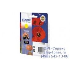 Картридж Epson 17 (C13T17044A10) желтый для Epson Expression Home XP-33 / 103 / 203 / 207 / 303 / 306 / 313 / 323 / 403 / 406 / 413 / 423 ,ресурс 150 страниц,оригинальный