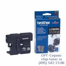 Оригинальный струйный картридж Brother LC980BK black (черный), для Brother DCP-145C / DCP-163C / DCP-165C / DCP-167C / DCP-195C / DCP-197C / DCP-365CN / DCP-375CW / DCP-377CW, MFC-250C / MFC-255CW / MFC-257CW / MFC-290C / MFC-295CN / MFC-297C . Ресурс: 3