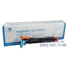 Оригинальный блок проявки Konica Minolta Magicolor 7450 / 7450-II / 7450-II-GA  голубой Фотобарабан голубой; 30K (4062513)