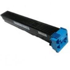 Совместимый картридж с тонером голубого цвета для konica minolta bizhub c650 (аналог TN611C, 27K)