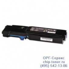 Совместимый тонер-картридж для Xerox Phaser 6600, голубой. Ресурс: 6000 стр. А4 (повышенная емкость, аналог 106R02233)