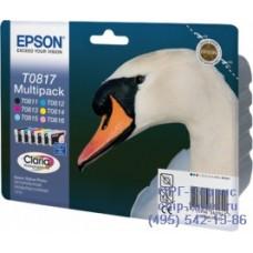 Комплект картриджей Epson T0817 (T1117) Multipack набор оригинальный C13T11174A10 для Epson Stylus Photo R270 / R290 / R295 / R390 / RX590 / RX610 / RX615 / RX690 / TX700W / TX800FW / 1410