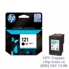 Оригинальный струйный картридж HP 121, черный, для HP Deskjet D1660 / D1663 / D2563 / D2663 / D5563 / F2423 / F2483 / F4283 / F4583 / HP Photosmart C4683 / C4783 / F2493 / ENVY 110 (стандартной емкости, 200 стр.) (CC640HE)