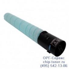 Картридж с голубым тонером для Konica Minolta bizhub C227 / C287 (аналог TN-221C, A8K3450) ресурс 21000 копий при заполнении 5% совместимый