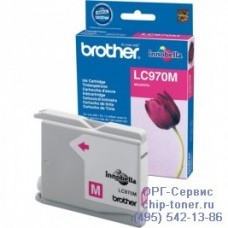 Оригинальный струйный картридж Brother LC970M пурпурный, для Brother DCP -135C / 150C / 750CN, MFC-235C / 260С . Ресурс: 300 стр. при 5% заполнении листа