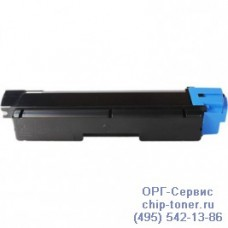 Картридж с голубым тонером для Kyocera FS-C2026MFP, FS-C2026MFP+, TK-590С (ресурс 5000 стр.) совместимый