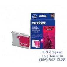 Оригинальный струйный картридж Brother LC1000M magenta (пурпурный), для Brother DCP-130C / DCP-330C / DCP-350C / DCP-353C / DCP-357C / DCP-540CN / DCP-560CN / DCP-750CW / DCP-770CW / FAX-1355 / FAX-1360 / FAX-1460 / FAX-1560 / MFC-240C / MFC-3360C / MFC-4