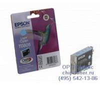 Картридж светло-голубой Epson T0805 ,оригинальный