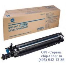 Блок проявки DV-311C (Девелопер) голубой для konica minolta bizhub c220 A0XV0KD Ресурс: 115,000 копий,оригинальный