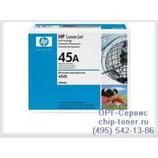 Hewlett-Packard Тонер-картридж HP 45A (Q5945A) для LJ 4345 Ресурс картриджа - до 18000 стр. А4 при 5% заполнении. оригинальный