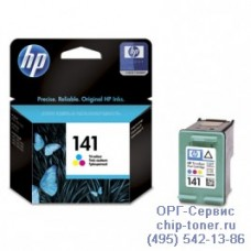Картридж HP 141 (CB337HE) цветной оригинальный для струйного принтера HP DeskJet D4263 / D4363 / HP OffceJet J5783 / J6413, HP PhotoSmart C4273 / C4283 / C4383 / C4473 / C4483 / C4583 / C5283 / D5363 Ресурс (стр. А4 при 5% заполнении): 170 страниц
