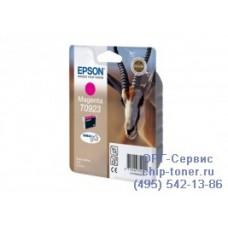 Картридж Epson T0923 пурпурный, оригинальный для Epson Stylus C91 / CX4300 / T26 / T27 / TX106 / TX109 / TX117 / TX119 (C13T10834A10), ресурс 480 страниц
