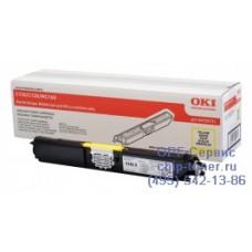 Оригинальный картридж с желтым тонером для цветного принтера OKI C110 / C130 / MC160 (2.5K) (44250721) повышенной емкости