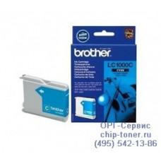 Оригинальный струйный картридж Brother LC1000C cyan (голубой), для Brother DCP-130C / DCP-330C / DCP-350C / DCP-353C / DCP-357C / DCP-540CN / DCP-560CN / DCP-750CW / DCP-770CW / FAX-1355 / FAX-1360 / FAX-1460 / FAX-1560 / MFC-240C / MFC-3360C / MFC-440CN