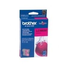 Чернильный оригинальный картридж Brother LC980M , пурпурного цвета,совместимость: Brother DCP-145C / 165C, ресурс : 260 страниц формата A4 при 5% заполнении