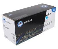 Картридж лазерный HP Color LaserJet Enterprise CP5520 / CP5525 / M750 голубой (HP 650A) ,оригинальный