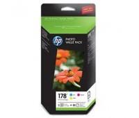 Комплект картриджей HP 178  + 85 листов фотобумаги ,оригинальный