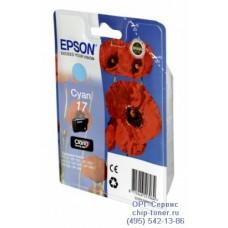 Картридж Epson 17 (C13T17024A10) голубой для Epson Expression Home XP-33 / 103 / 203 / 207 / 303 / 306 / 313 / 323 / 403 / 406 / 413 / 423 ,ресурс 150 страниц,оригинальный