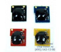 Чип желтого картриджа HP CP3520/CP3525