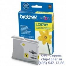 Оригинальный струйный картридж Brother LC970Y желтый, для Brother DCP-135C / 150C / 750CN, MFC-235C / 260С . Ресурс: 300 стр. при 5% заполнении листа