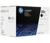 Двойная упаковка картриджей HP 80X ,оригинал