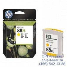 Струйный картридж Hewlett Packard HP 88XL (C9393AE) Officejet Pro K550 / K5400 / K8600 / L7480 / L7580 / L7590 / L7680 / L7780, желтый (оригинальный-уценка), 17ml