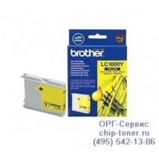 Оригинальный струйный картридж Brother LC1000Y yellow (желтый), для Brother DCP-130C / DCP-330C / DCP-350C / DCP-353C / DCP-357C / DCP-540CN / DCP-560CN / DCP-750CW / DCP-770CW / FAX-1355 / FAX-1360 / FAX-1460 / FAX-1560 / MFC-240C / MFC-3360C / MFC-440CN