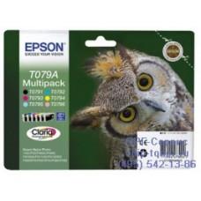 Оригинальный Набор картриджей T079A для струйных принтеров Epson Stylus серий: Stylus Photo P50, PX660 обеспечит отличную четкость печати и надежность в работе. В наборе 6 цветов: черный, пурпурный, голубой, желтый, светло-пурпурный, светло-голубой