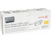Картридж 106R02762 желтый для Xerox Phaser 6020 / 6022,  WorkCentre 6025 / 6027 оригинальный
