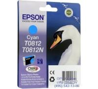 Картридж голубой Epson T0812 ,оригинальный