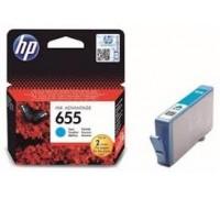 Картридж голубой струйный HP 655 , оригинальный
