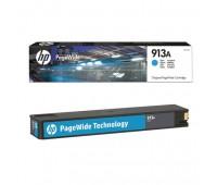 Картридж голубой HP 913A / F6T77AE для HP PageWide 377dw /  452dw Pro / 477dw Pro оригинальный