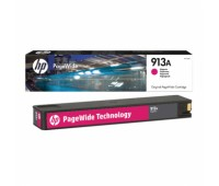 Картридж пурпурный HP 913A / F6T78AE для HP PageWide 377dw /  452dw Pro / 477dw Pro оригинальный