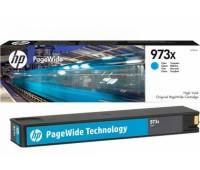 Картридж голубой HP 973X / F6T81AE повышенной емкости для HP PageWide 452dw Pro / 477dw Pro оригинальный